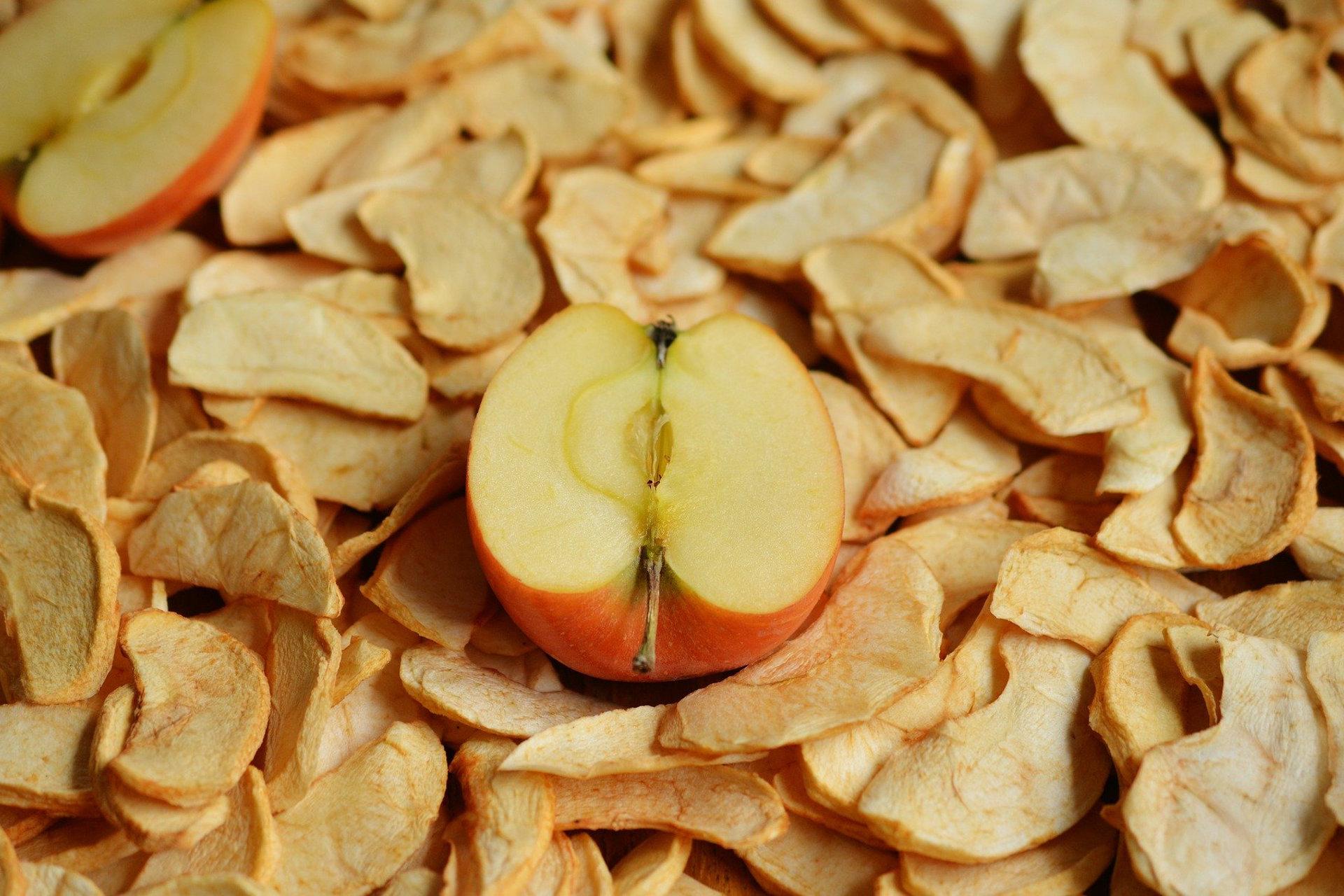 Getrocknete Apfel